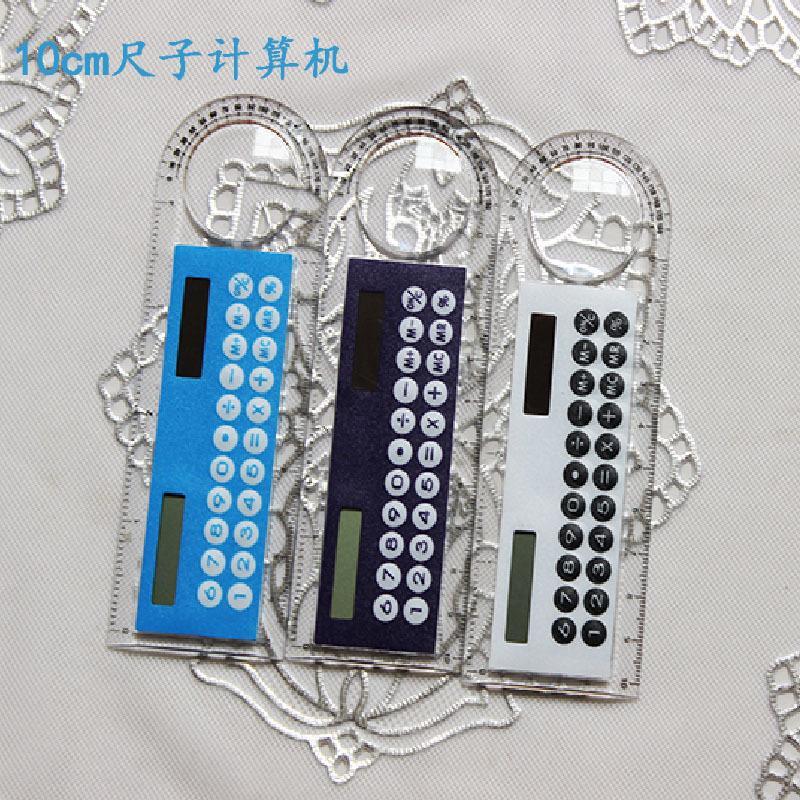 Règle de 10cm pour l'approvisionnement des élèves de l'école primaire et élémentaire avec calculatrice de règle ordinateur 10cm à main