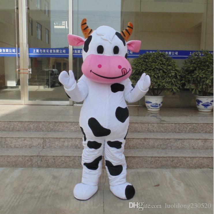 Grosses soldes!! PROFESSIONAL FARM DAIRY Costume de mascotte de vache dessin animé Déguisement Livraison gratuite