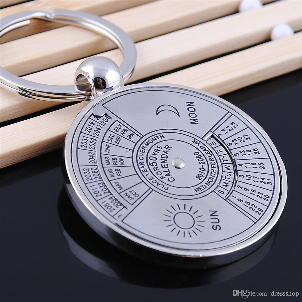 Manufacturers promotional items English calendar keychain compass bead small gifts to bring good luck