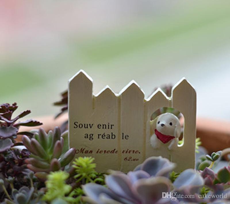Scala il recinto cucciolo figurine terrario Resin Craft House Oranment Fairy Garden Statue miniature Gnomi bonsai