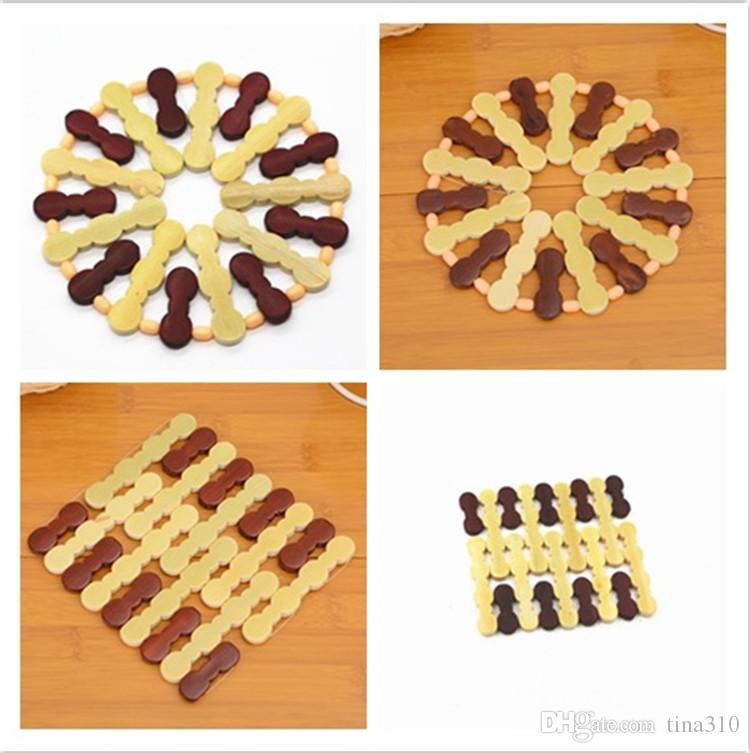 environmental kitchen accessories heat insulations Bamboo bowl pad coffee bowl cup mat drink coaster placemat IA561