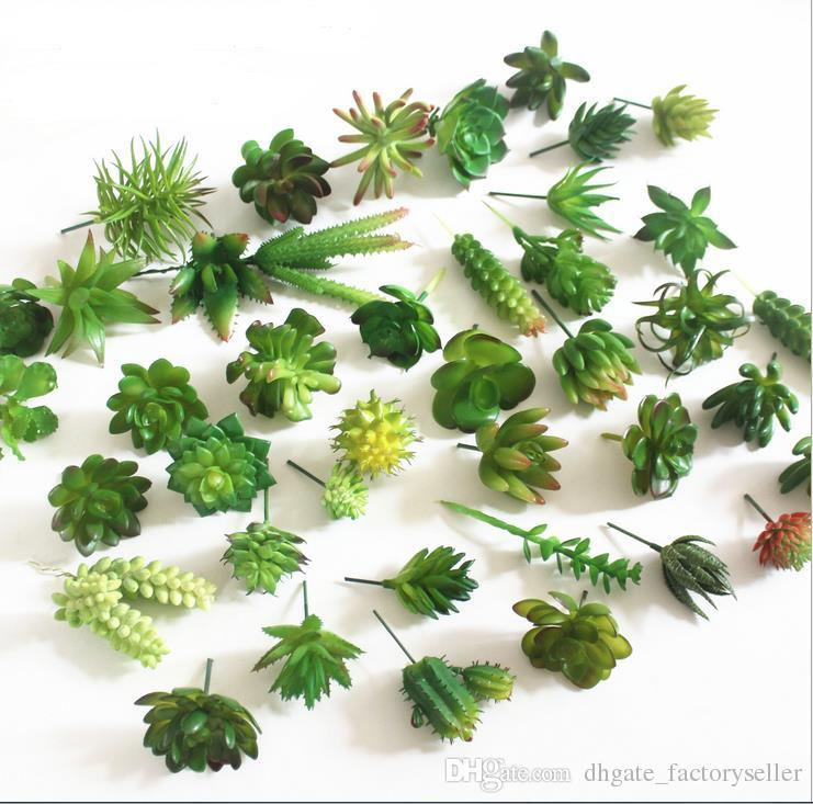 أزياء الساخن محاكاة العصارة الزهور الاصطناعية الحلي مصغرة الأخضر العصارة الاصطناعي النباتات حديقة الديكور
