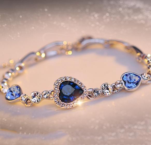 Kristall Armband Ocean Hearts Damenmode Hand Ornamente Handkette