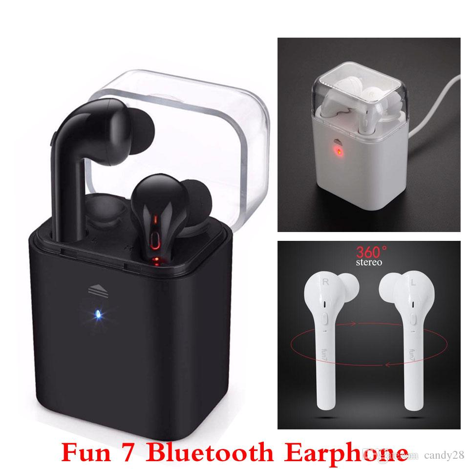 Original Fun 7 Bluetooth Earbuds Double Twins Wireless Earphone Stealth Sport Headphone For Iphone 7 Plus Samsung With All Smartphones Wireless Cell Phone Headset Headphones For Phone From Candy28 34 94 Dhgate Com