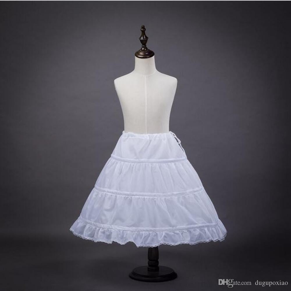 Standard Plus Size White 3-Hoops Wedding Bridal Petticoat Underskirt Crinoline A