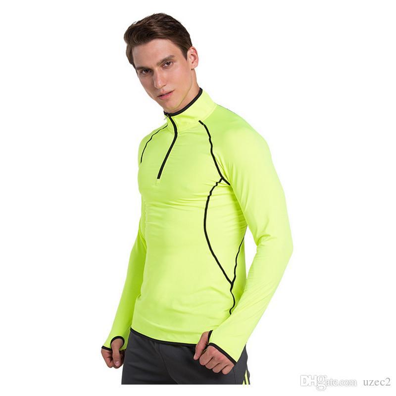 Aprire catena di collant da uomo di sport che funziona velocemente tratto forma fisica copre traspiranti