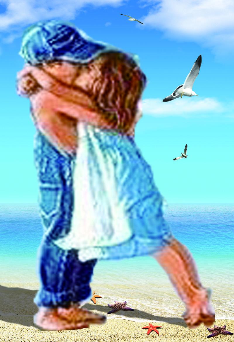 30 * 40 سنتيمتر جديد الساحلية زوجين 5d الماس التطريز الماس الفسيفساء جولة الماس اللوحة عبر الابره مجموعات تزيين المنزل q171128