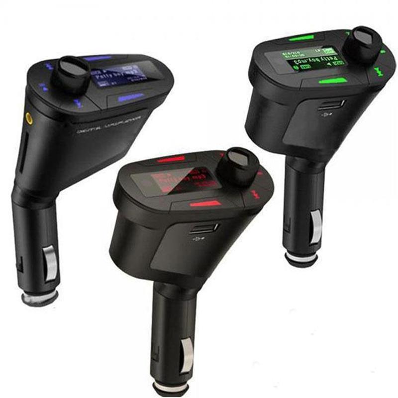 Nuova auto Kit MP3 Player Wireless FM Trasmettitore Modulatore WMA Wireless USB SD MMC LCD con remoto blu / luce rossa