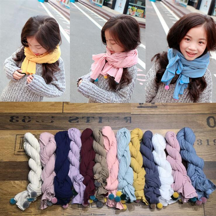 Lovely Kids Children Scarf Winter Thermal Cotton Scarf Boy Girl Neckerchief New
