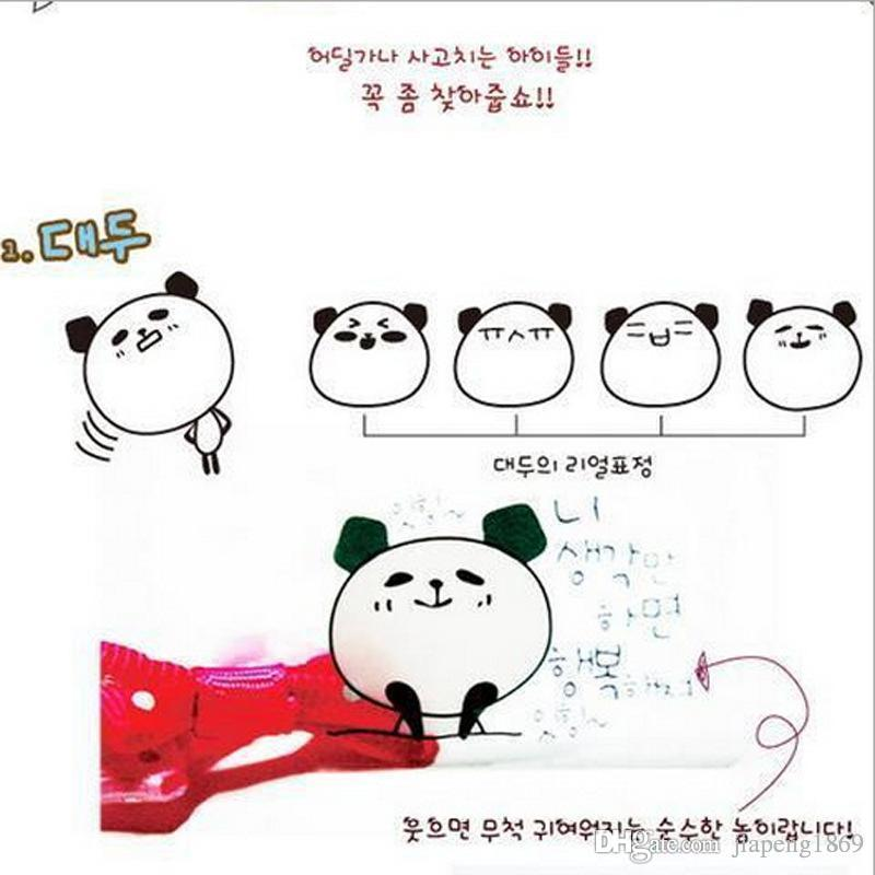 New Arrivals!!! 6 sheets/set Cute Cartoon Panda Head PVC Stickers Toy for Photo Album Diary Exercise Book Decoration