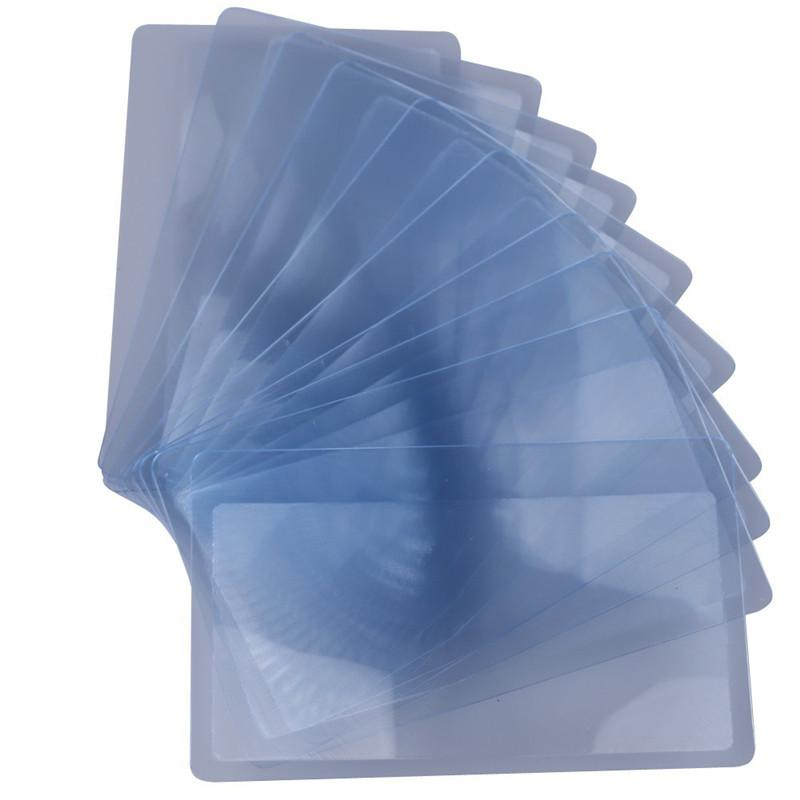10 PCS Transparent Credit Card 3 X Magnifier Magnification Magnifying Fresnel LENS Hot Sales High Quality Free Shipping