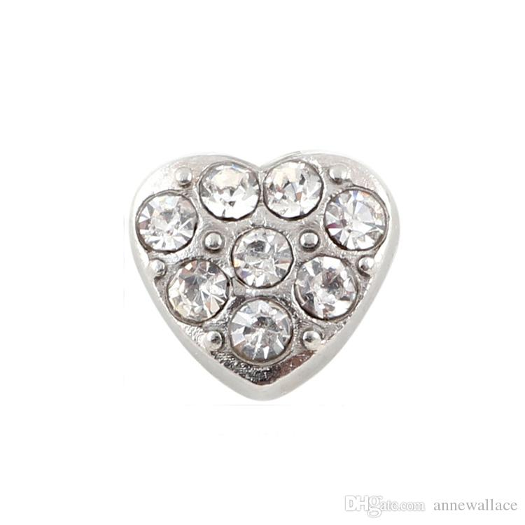 20pcs/lot free shipping good quality new type heart floating charms for glass living memory lockets
