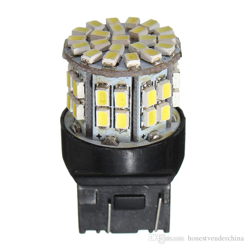 100X T20 7443 W21/5W 1206 50SMD Auto Car LED Brake Stop Rear Light Bulb Lamp Backup Reserve Lights Pure Warm White DC 12V
