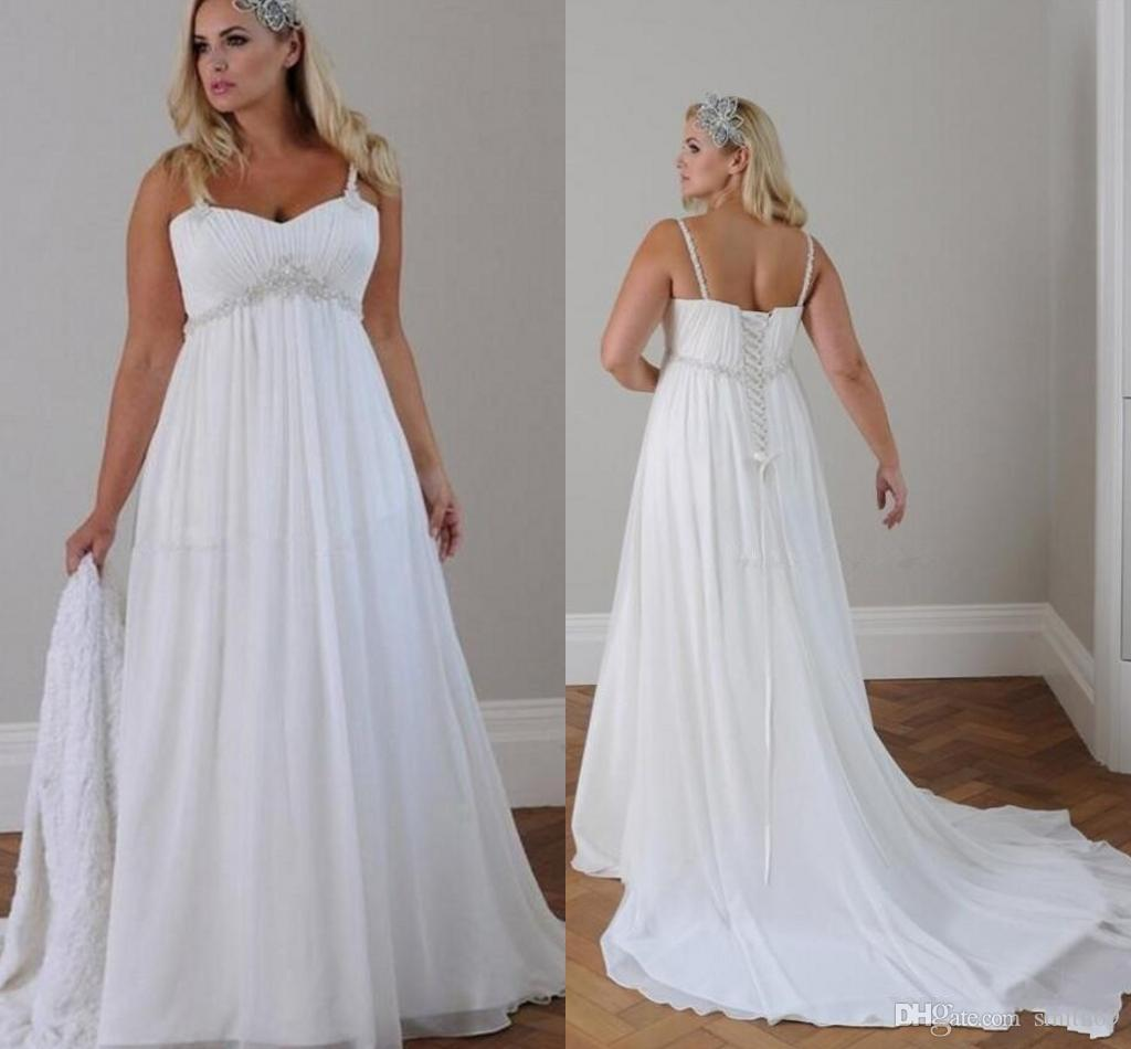 Discount Country Western Plus Size 2017 Wedding Dresses Spaghetti ...