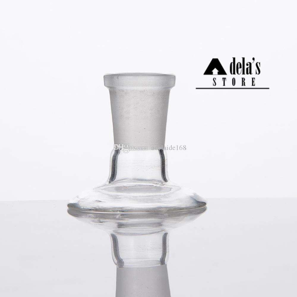 Glass Adaptor Stand For Bowl Piece Domes Water Pipe Bongs Adaptors 14mm 18mm Male Female Frosted Joint Dropdow Dab Rig 377