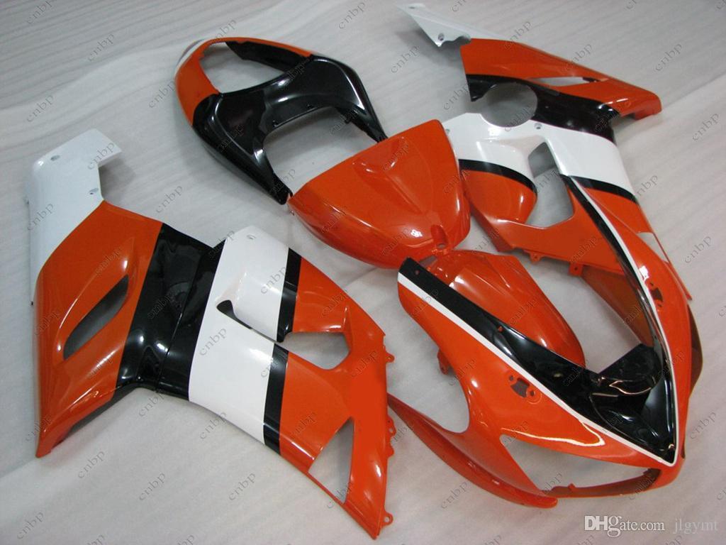 Bodywork 636 ZX-6r 06 Full Body Kits for Kawasaki ZX6r 2005 Orange Red Fairing Kits ZX6r 636 2006 2005 - 2006