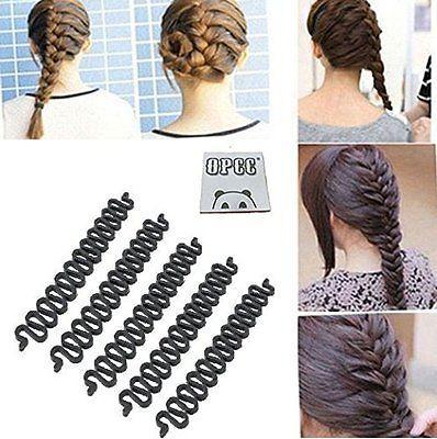OPCC 5 ADET Moda Fransız Saç Şekillendirici Klip Sopa Bun Maker Örgü Aracı Saç Büküm # R73