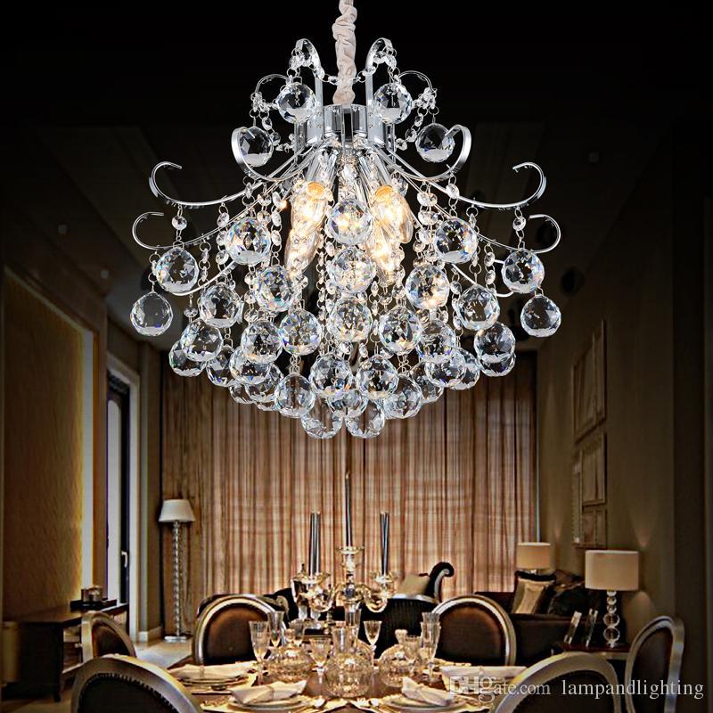 Modern elegante lustre de cristal lâmpada de suspensão lustre para sala de jantar decoração de casa