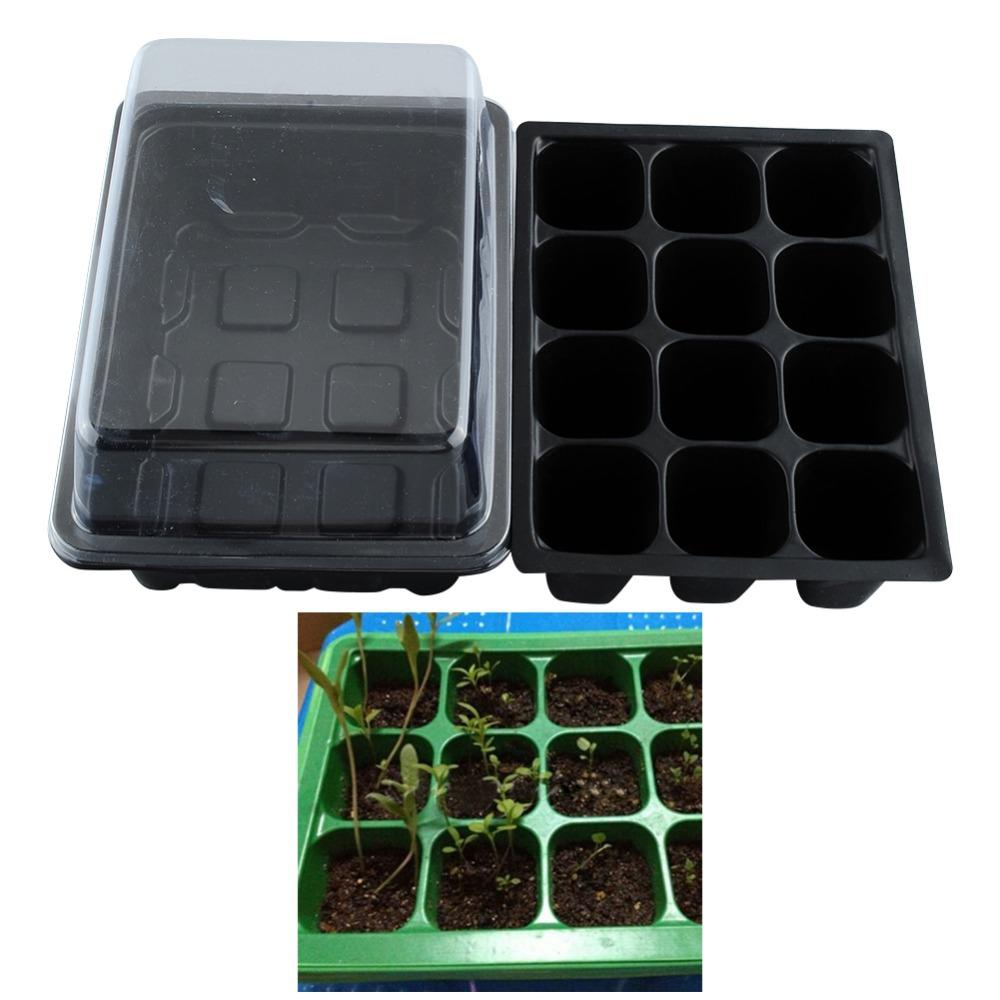 50 SET Seed Trays Plant Germination Kit Grow Starting Durable Plastic with Humidity Dome and Base 60 Cells All, Koram Plant Tags