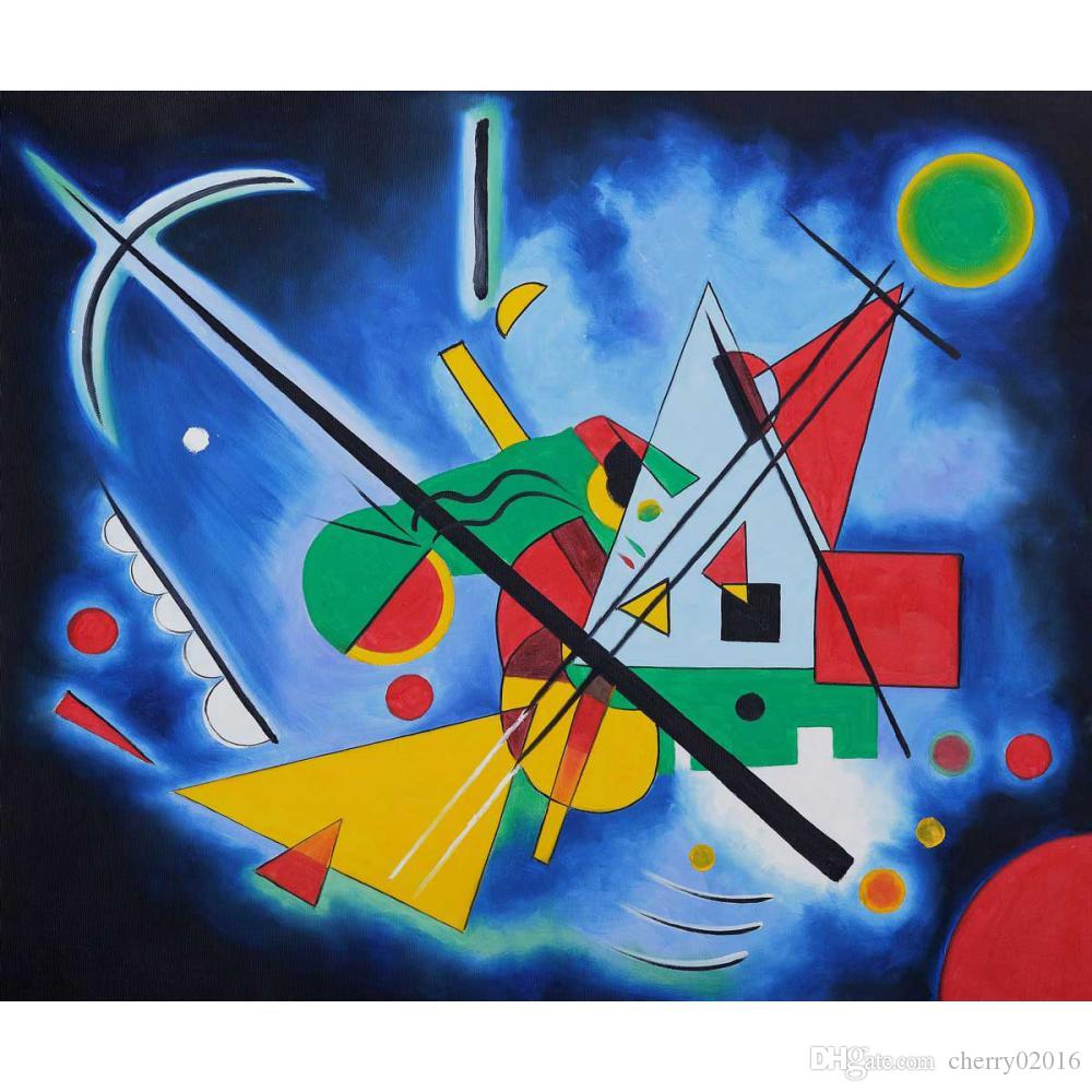 Ful Modern Abstract Paintings Wassily Kandinsky Blue Painting Oil On Canvas Handmade High Quality From Cherry02016 126 64 Dhgate Com
