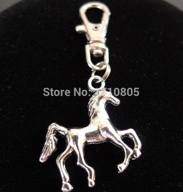 Sıcak 50 adet Moda Vintage Gümüş Alaşım At Charm Anahtarlık Hediyeler Anahtarlık Fit DIY Anahtar Zincirleri Aksesuarları Takı D383