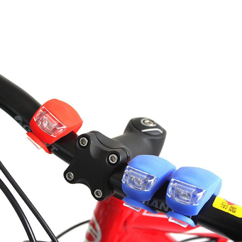 Bike Bicycle Silicone Head Front Rear Wheel Flash Light Lamp Spoke Warning Lamp