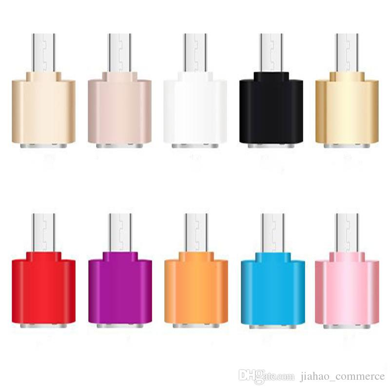 100 adet / grup Mini Mikro USB 5pin Kadın USB Portu OTG Adaptör Veri Sync Şarj için akıllı telefon, cep telefonu Smartphone Tab U-Disk