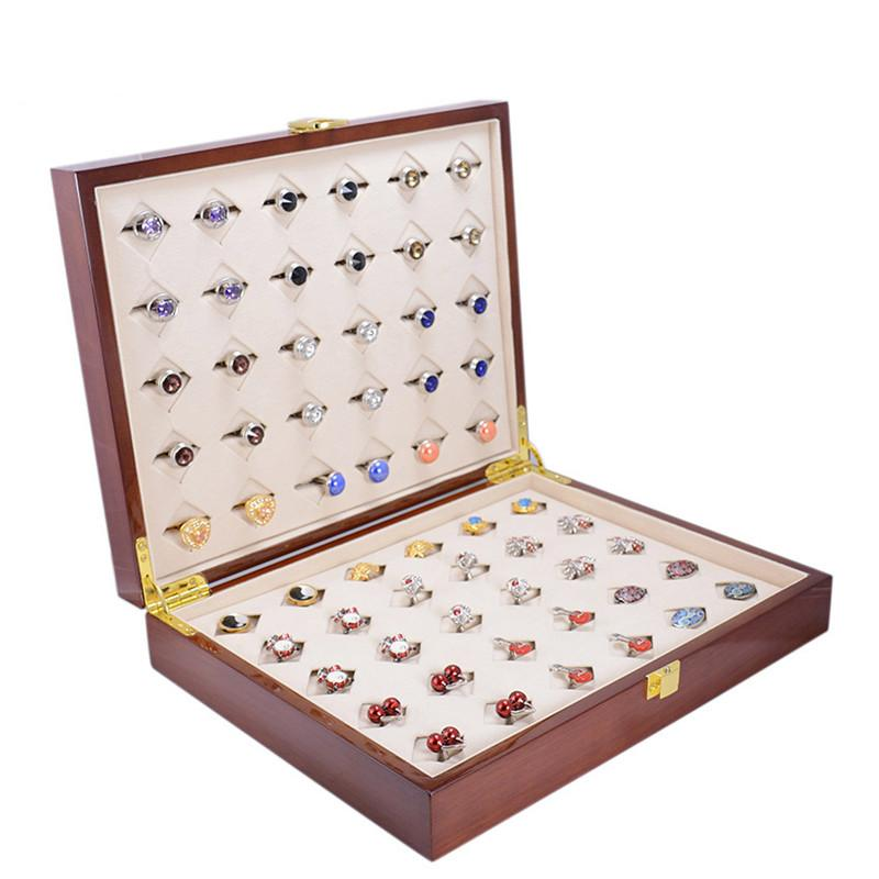 Luxury Cufflinks Ring Gift Box Storage Case Mens Jewelry Display Gift Box 30pairs Capacity High Quality Painted Wooden Boxes