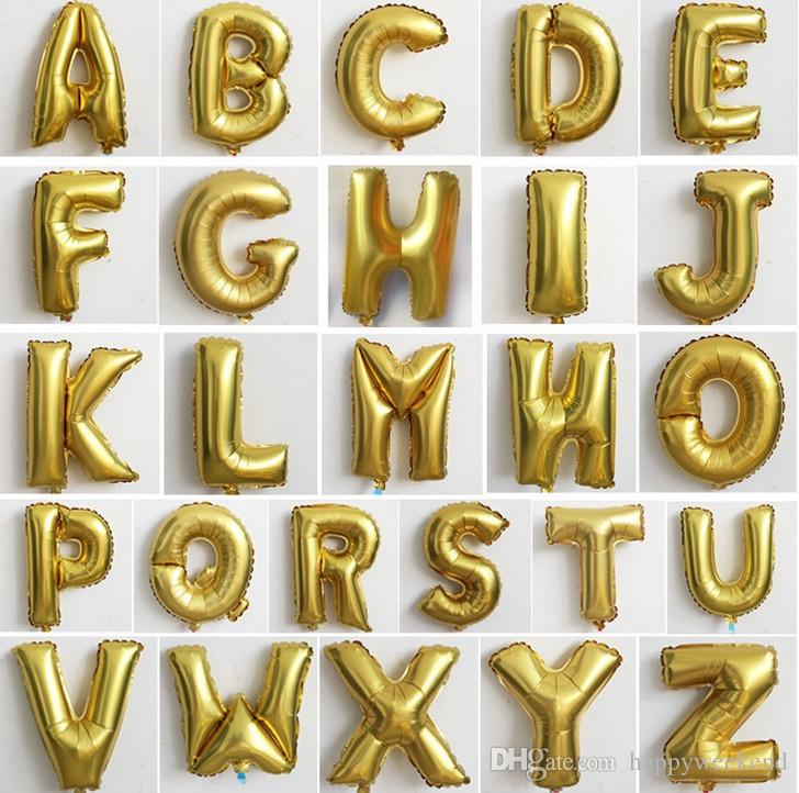 2017 Wholesale A to Z Letter balloon and 1to 9 Number Foil Balloons DIY balloons Birthday Party Wedding Decoration Balloons DHL free ship