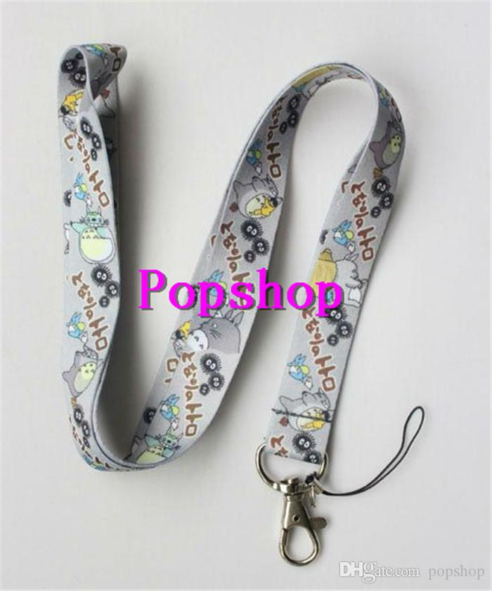 NEW 50pcs Grey My Neighbor Totoro Anime Neck Lanyard Multicolor Phone Accessories Cell Phone Camera Neck Straps Lanyard Gifts