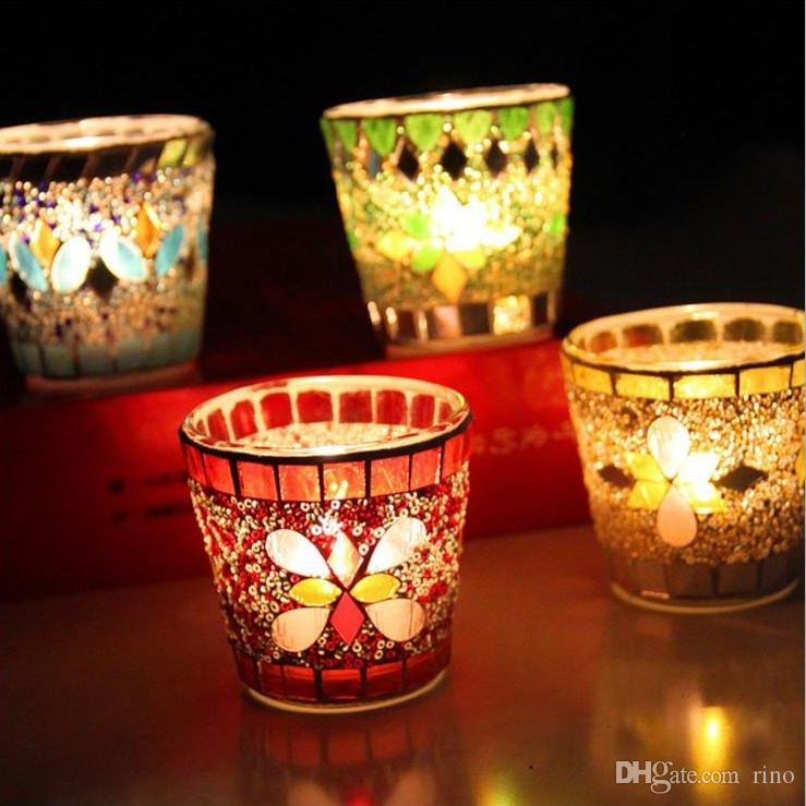 Decorative Glass Candle Holders.Glass Candle Holders Party Decoration Handmade Fashion Mosaic Weddings Candle Holders For Home Bar Decoration Wooden Lantern Candle Holder Wooden