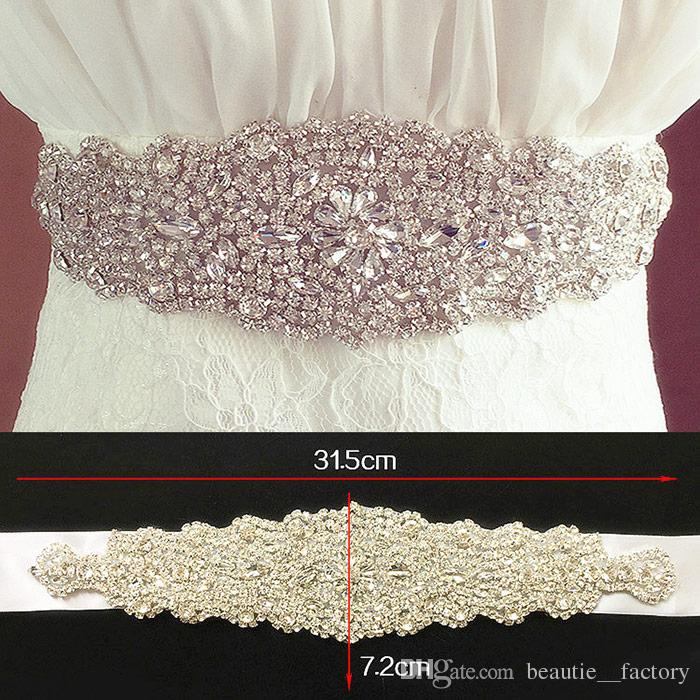 Bright Bridal Belt Wedding Rhinestone Faux Gorgeous Princess Sashes Bridesmaid Dress Sash Wedding Accessories Multi Color Ribbon BW61