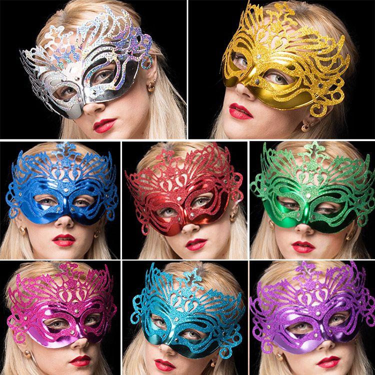 20pcs Venetian Masquerade Frauen Maske Laser-Cut-halbe Gesichts-Frauen Masken Halloween-Ball-Party Multi Farben Gold / Silber / Rot