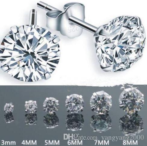 atacado venda quente S925 jóias de prata de cristal brincos de zircão D-3302
