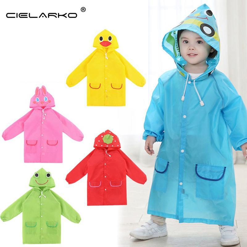 Wholesale- Children Poncho New Waterproof Kids Rain Coat For children Raincoat Rainwear/Rainsuit Kids boy girl Animal Style Raincoat LYJ19