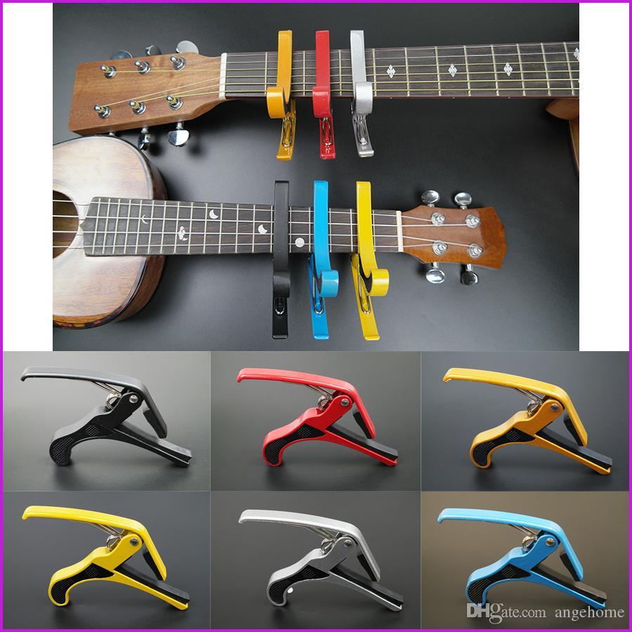 6 ألوان جديد وصول الغيتار الفك كابو المشبك للكهرباء و الصوتية طوبا الغيتار الزناد الإصدار شحن مجاني