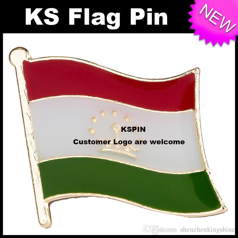 Pin 10pcs della bandierina del distintivo della bandierina del Tagikistan molto trasporto libero KS-0171