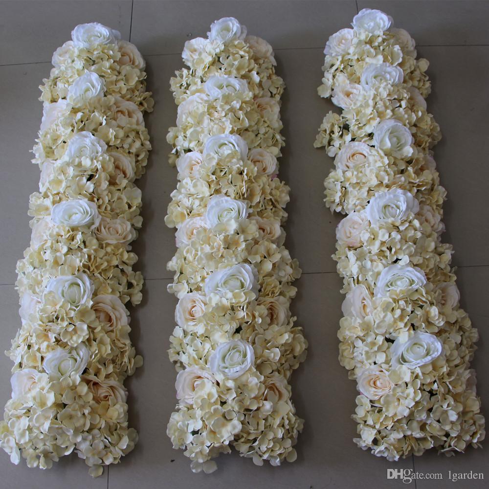 Simulation Wedding Rose Hydrangea Arrangement Flower Square Decorative Wedding Background Decorative10pcs/ lot