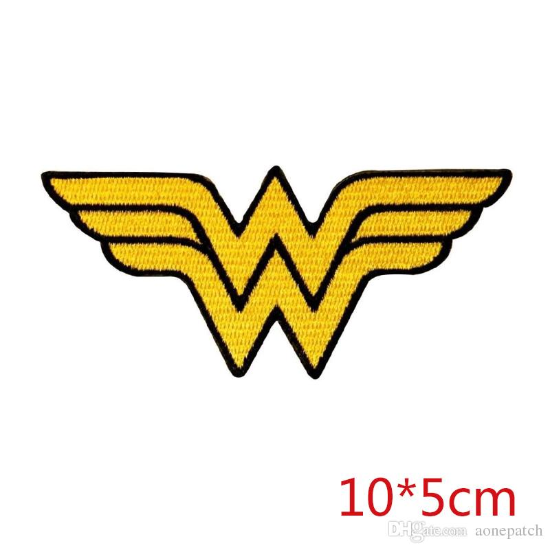 Wonder Woman logo symbol superhero emblem DC COMICS fabric sewing iron-on patch for Jacket Jeans Clothing Badge