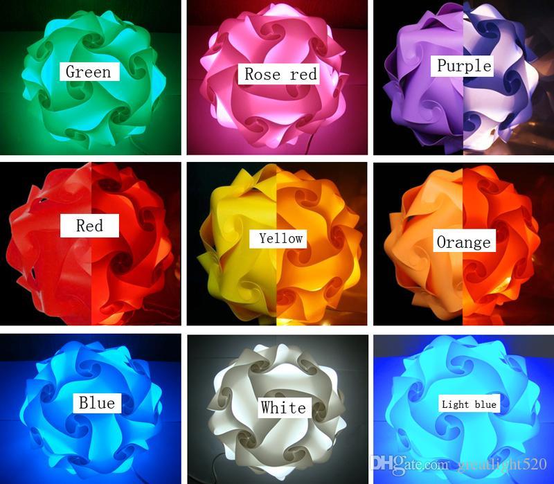 DIY enigma infinidade luz luzes QI Luz Pieces Infinito colorido enigma luzes abajur # 30