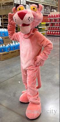 rosa pantera costume della mascotte iceage personalizzato personaggio dei cartoni animati cosply formato adulto costume di carnevale festa in maschera kits1387