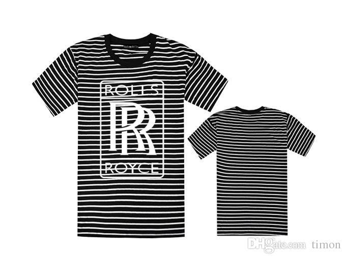 Rollos de envío gratis royce doble R camiseta de lujo logo del coche camiseta hombres hiphop camisetas negro mma marca caliente tees sportswear camiseta swag