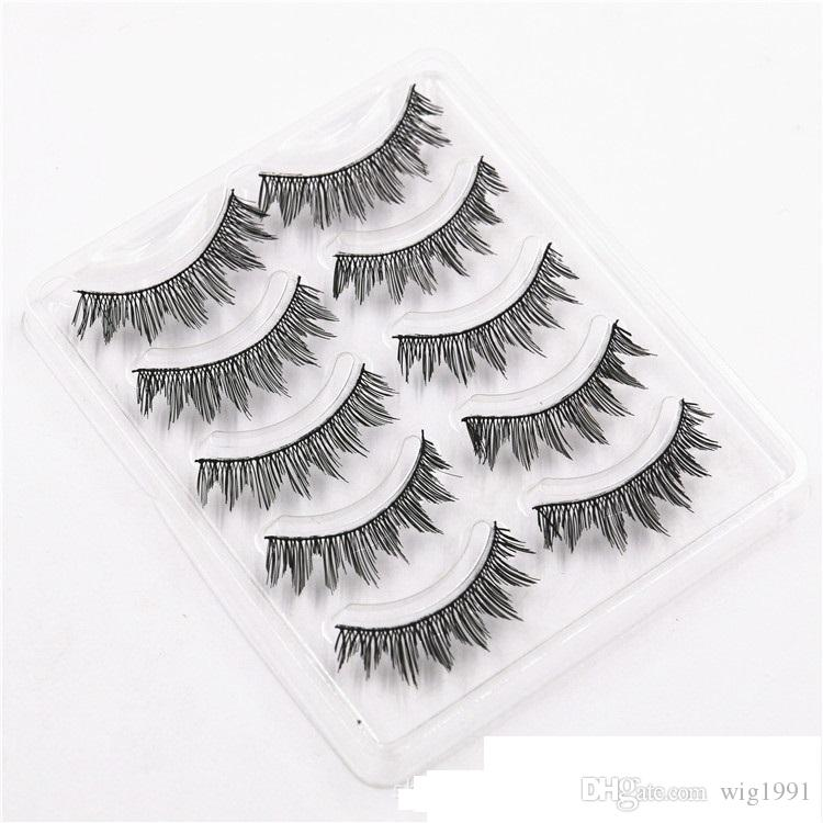 Tapered Thick False Eyelashes Black Natural Black Soft Long Makeup Eye Lash Extension with Package Box High Quality 14