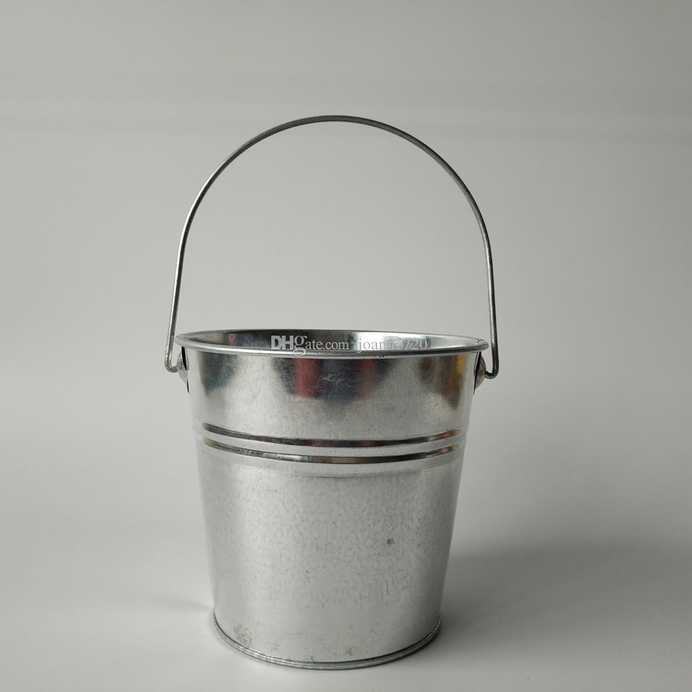 D13xH12cm 도매 아연 도금 된 버킷 틴 Pails 철분 꽃 냄비와 재배자 웨딩 파티 호의 홀더 홈 장식