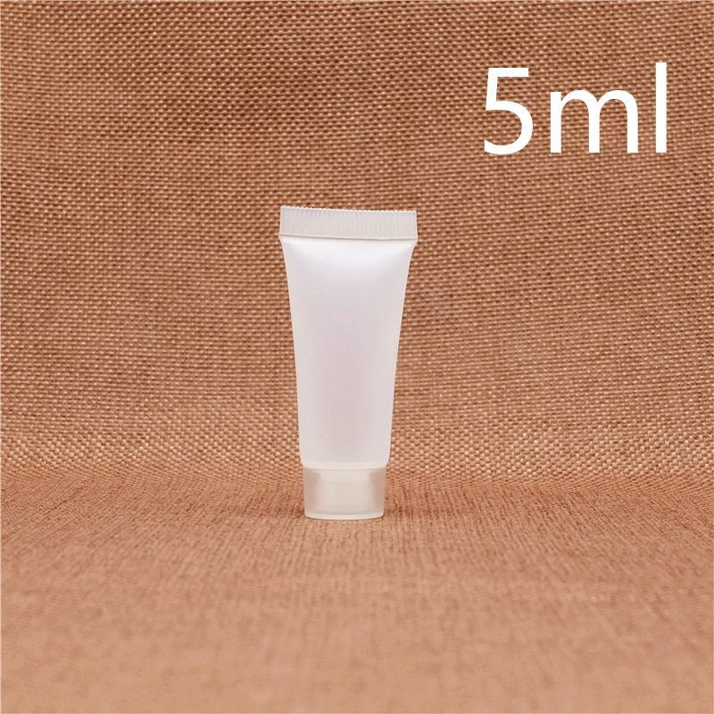Небольшой 5мл матовый пластик бутылка лосьона многоразового косметический шампунь крем контейнер дорожный набор поставк гостиницы