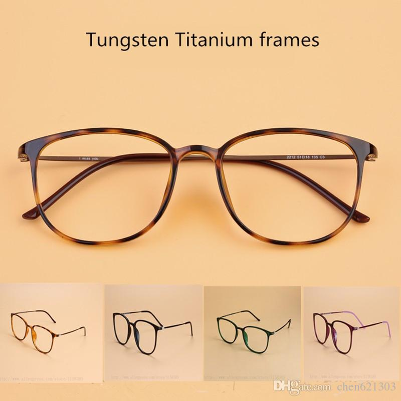 Tungsten Titanium Glasses Frame Men Square Vintage Eyeglasses Frames ...
