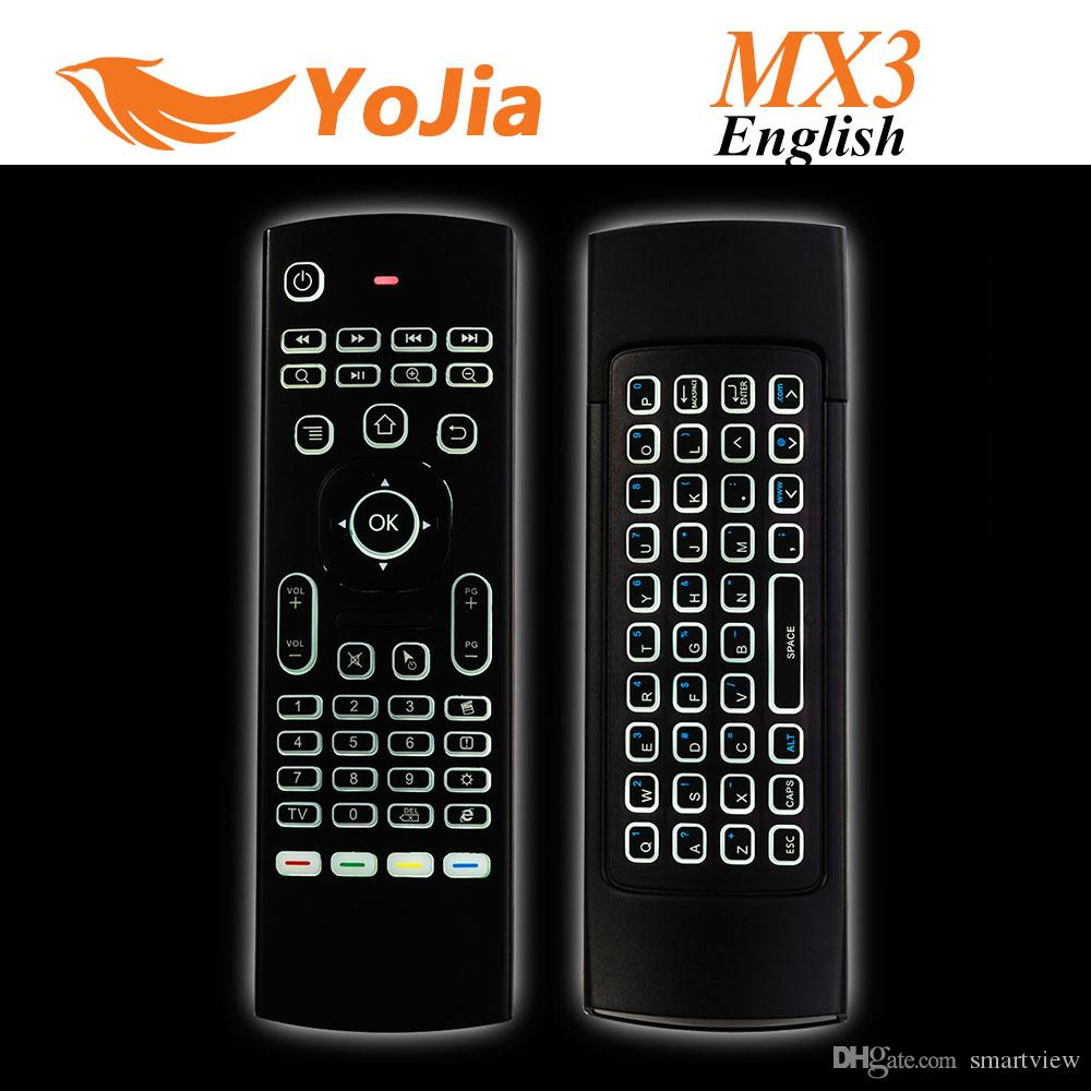 10PCS X8 에어 플라이 마우스 MX3은 2.4GHz 무선 키보드 안드로이드 TV 박스에 마이크없이 원격 제어 체성 감각 IR 학습 6 축