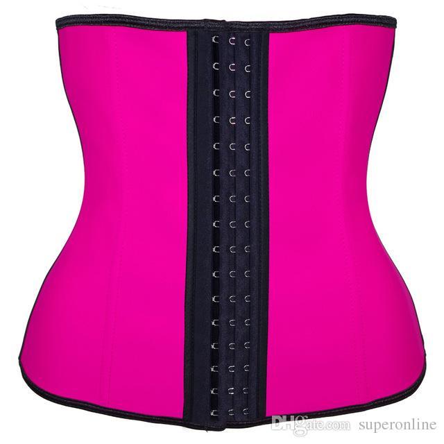 Látex Entrenador de cintura Corsé Más tamaño Acero Hueso Entrenamiento Cintura Mujeres Fajas moldeadoras de cuerpo delgado Corsés XS-6XL