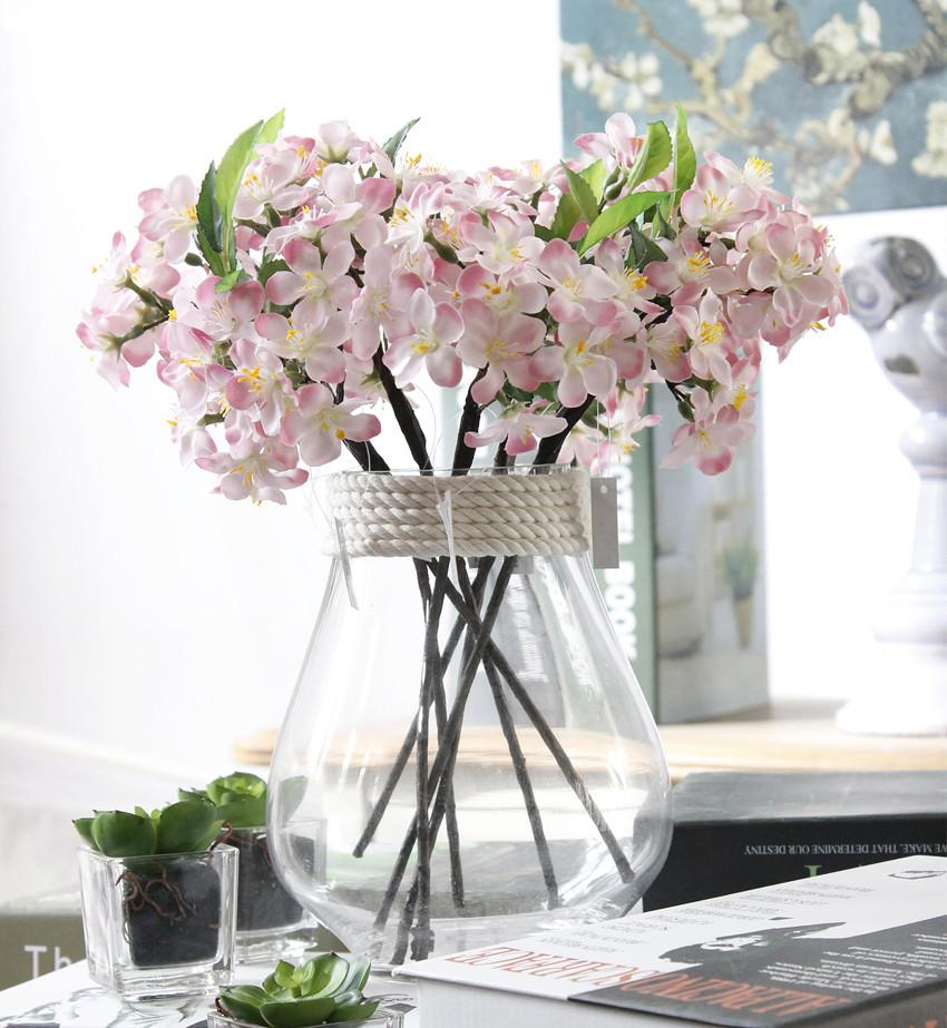 20pcs artificiale fiore di ciliegio in seta piccolo fiore da sposa ortensia casa giardino decor partito fiori finti decorazioni di nozze nuovo