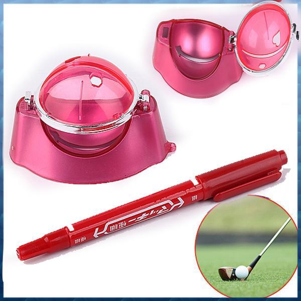 Ferramenta de linha de bola Atacado Red Golf Liner pena de marcador marcas Template Alinhamento Set Equipamentos Acessórios Atacado